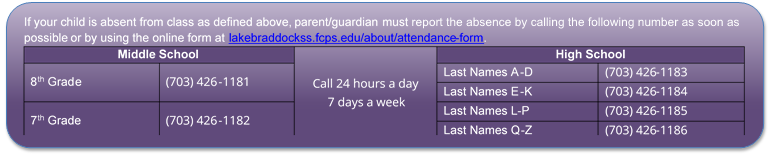 Attendance phone numbers